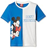 Mickey Boys' T-Shirt (DMW-05_R.Blue and ...