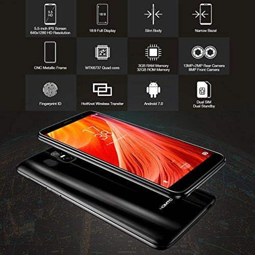 HOMTOM S7 Smartphone Libre 4G   Android 7 0 IPS Pantalla de 5 5 C  mara Trasera de 8MP  32GB de ROM   3GB de RAM  MTK6737 Quad Core 1 3GHz   Dual SIM