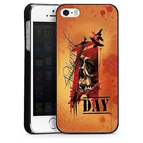 Apple iPhone 6 Housse Étui Silicone Coque Protection Tatouage Orange Rock n Roll CasDur noir