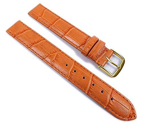Louisiana Print XL Ersatzband Uhrenarmband Leder Aprikose 21911G-XL, Anstoß:14 mm