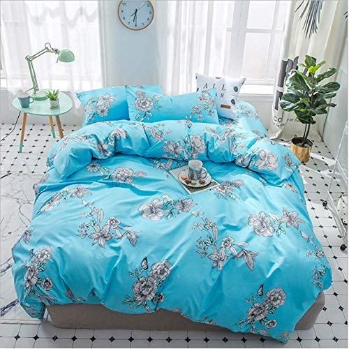 SHJIA Textile Twin Full Bettwäsche Set Cute Bettbezug Kissenbezug Flat Sheet Girl Kid Teen Bettwäsche C 200x230cm (Sheet Twin Teens For Sets)
