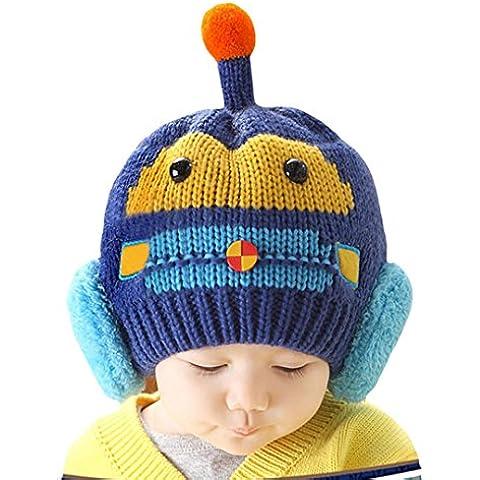 Bebé Niños Niñas Niños Dibujos Animados De gorro de lana de punto invierno caliente Beanie Hat Cap