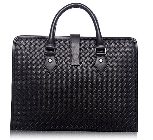 Xinmaoyuan Männer'S HANDTASCHE Handtaschen Männer echte Männer Business Briefcase weben Schulter Messenger Bag, Braun Schwarz