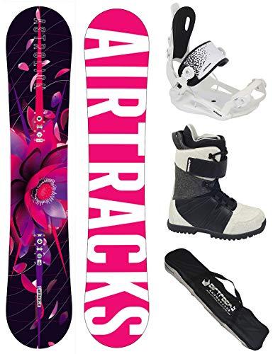 Airtracks snowboard set/tavola astrolion donna 145 + attacchi master w + scarponi star w 39 + sacca/nuovi