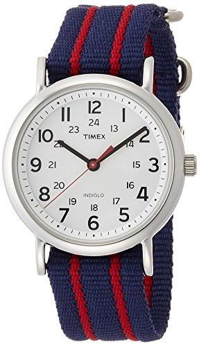 Timex-T2N747-Orologio-da-Polso-al-Quarzo-Analogico-Unisex-Nylon-Blu