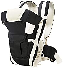 Adjustable Hands-Free 4-in-1 Baby Carrier Bag , Carry Bag , Front Carry Bag with Comfortable Head Support & Buckle Straps Black