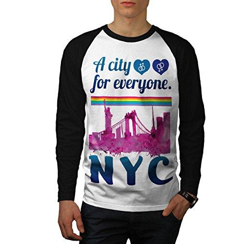 Stolz Liebe Städtisch Neu York USA Land Männer XL Baseball LS T-shirt | Wellcoda (Land-baseball-jersey)