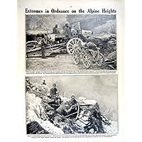 PISTOLA ALPINA 1915-16 DELLE ARMI ITALIANE DELLA CROCE ROSSA DI GUERRA MONDIALE