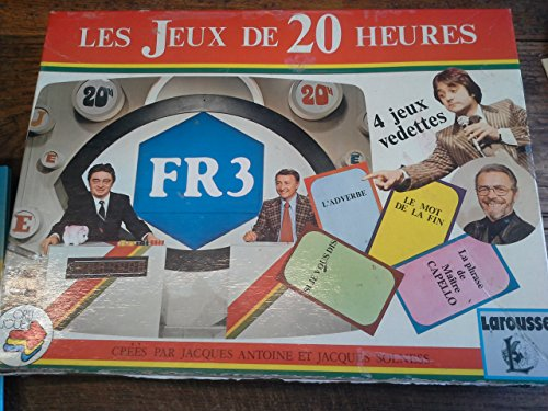 les jeux de 20 heures - Maître Capello jeux de société créés par Jacques Antoine et jacques Solness