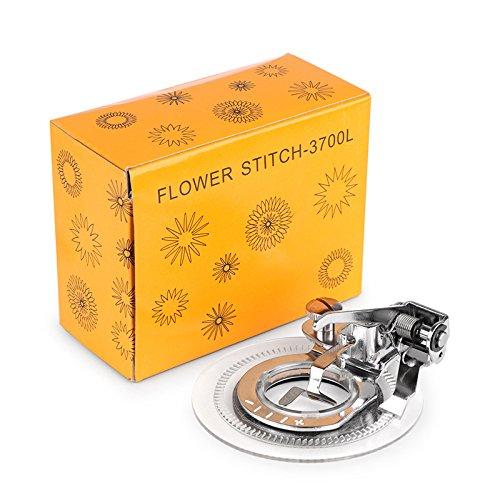 Bureze Fancy Flower Stitch Round Stitch Presser Fuß Blume Stickfuß für alle Low Shank Nähmaschine -