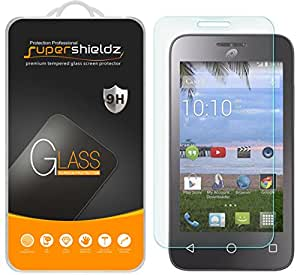 Alcatel OneTouch Pixi Pulsar Tempered Glass Screen Protector, Supershieldz Ballistics Glass 9H Hardness Anti-Scratch, Anti-Fingerprint, Bubble Free -Crystal Clear - Retail Packaging