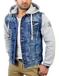 Cipo & Baxx Herren 2in1 Jeans-Jacke Sweatjacke C-1294