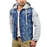 Cipo & Baxx Herren 2in1 Jeans-Jacke Sweatjacke C-1294, Grösse:S
