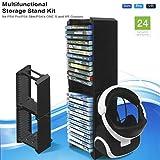 LESHP Soporte de Torre de Almacenaje Multifuncional con Consola de Juegos Torre de Almacenamiento de la Consola para PS4 P4 / Slim / Pro / para Xbox One S / VR Gafas (doble capa)