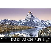 Faszination Alpen 2018: Großer Foto-Wandkalender mit Bildern von Gipfeln der Alpen. Edler schwarzer Hintergrund und Foliendeckblatt. PhotoArt Panorama Querformat: 58x39 cm.