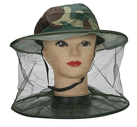 Fletion Bienenzucht Hut im Freien Dschungel Tarnung Hut Fischerhut Schal