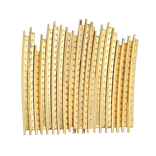 Special Section 1set Acoustic Guitar Fret Wire Copper Fingerboard Frets 2.0mm Gold 21pcs Fret Wires Fast Color Stringed Instruments
