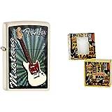 Zippo 15618Vintage Fender Mustang en coffret cadeau avec crème Premium Tapis de