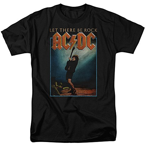 AC/DC Erwachsene T-Shirt Let There Be Rock - - Mittel