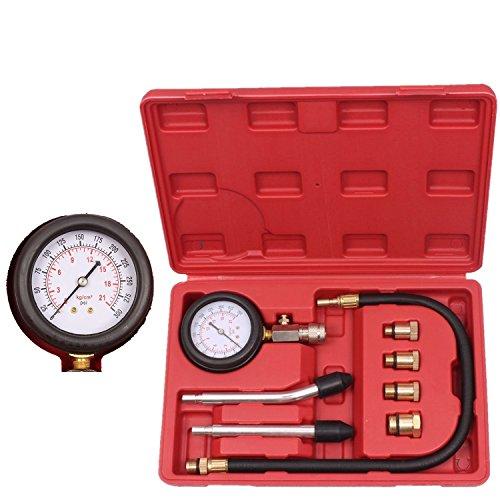 Vzer - Tester professionale in kit per motori cilindrici a benzina a compressione, calibro per auto