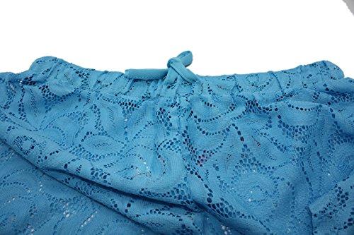 Ele Gens Damen Strandhose Strandshorts Bikini Hose Shorts Sommer Lace #B Schwarz