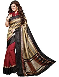 Bhavi Saree Tassar Silk Saree (Bhvp13311_Maroon)