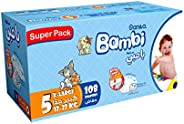 Sanita Bambi, Size 5, XL, 12-22 kg, Super Box, 108 Diapers