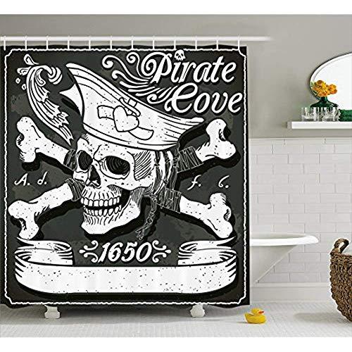 Piraten Wirbelt - Yeuss Piraten Duschvorhang, Pirate Cove Flagge