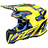 Casco Moto Cross Enduro AIROH Twist TC16 Gloss L Giallo Gloss