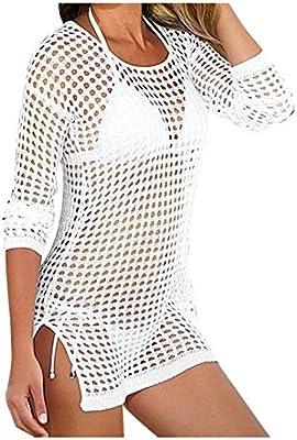 Mujer sexy ganchillo Beit Kiama–Bikini Cover Up Summer vestido Bikini vertuschung Mini vestido de playa
