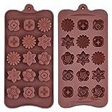 Silikon Schokoladenform Blumenförmig Backförmchen Süßigkeit Muster Jelly Ice...