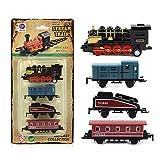 Elegantes 4-teiliges Kinder-Auto-Spielzeug, Autos, Kinder, Legierung, Simulation, Dampflok, kreatives Mini-Auto-Modell-Spielzeug, Geschenk für Kinder Schwarz