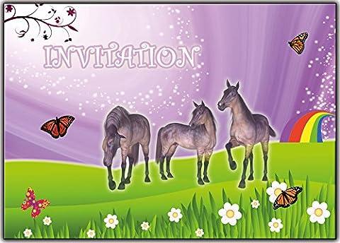 Carte D Invitation Anniversaire - cheval invitation carte d'anniversaire fête en francais