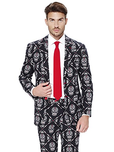 Opposuits Haunting Hombre Anzüge mit Bunten Prints - Komplettes Set: Jackett, Hose und Krawatte