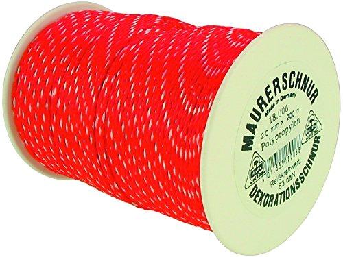 HaWe 18.009 Maurerschnur 200mx3mm aus Polypropylen in rot/weiß