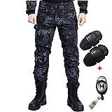 H Welt EU Esercito, pantaloni tattici militari da uomo con proteggi ginocchia per airsoft, paintball, lotta, TYP, L