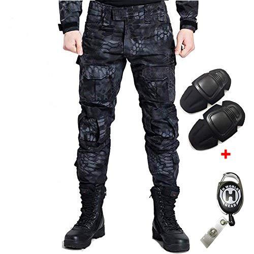 H Welt EU - Pantalones militares del ejército táctico, para airsoft o paintball, pantalones de lucha para hombre con rodilleras, color TYP, tamaño large