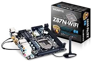 Gigabyte GA-Z87N-WIFI Mainboard Sockel LGA 1150 (mini-ITX, Intel Z87, 2x DDR3 Speicher, 4x SATA III, DVI-I, 2x HDMI, 4x USB 3.0)