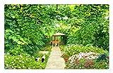 Murale Carta Da Parati Personalizzato Fotomurale 3D Natura In Sfondi Paesaggio Verde Rattan Giardino Fiore Adesivo Da Parete Foto Adesivo Foresta Wallpaper 3D, 200Cmx140Cm