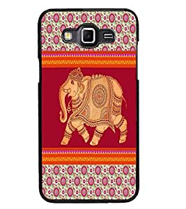 PrintDhaba Elephant D-5799 Back Case Cover for SAMSUNG GALAXY GRAND MAX (Multi-Coloured)