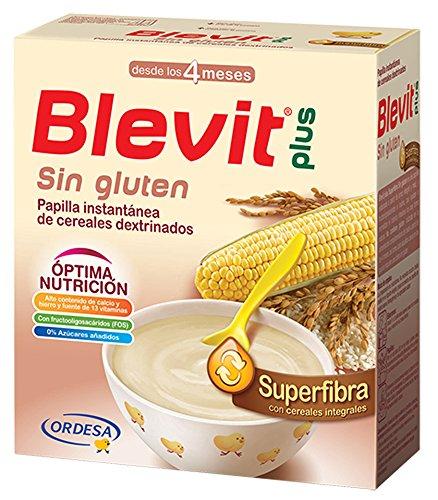 Papilla de maíz y arroz integral enriquecida BLEVIT (600 gr)