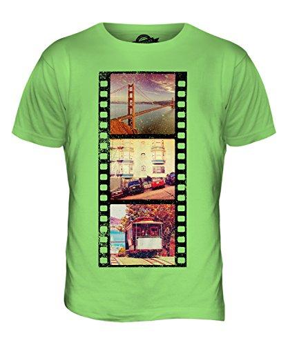CandyMix San Francisco Fotografischer Film Herren T Shirt Limettengrün
