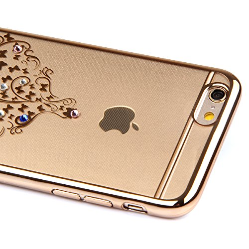 iPhone 6S Plus Hülle, iPhone 6 Plus Hülle, iPhone 6S Plus Silikon Hülle Rose Gold Tasche Handyhülle [Kratzfeste, Scratch-Resistant], iPhone 6 Plus TPU Gel Bumper Case Weiches Transparent Silikon Schut Röcke