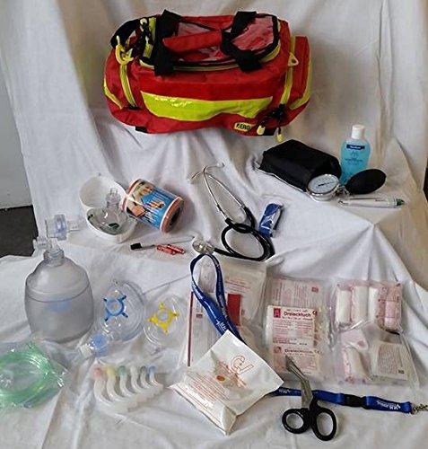 AKTION 1 - Notfalltasche Gr. M - ROT - Polyester gefüllt mit MIH Füllung EAN by MIH