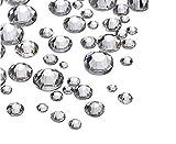 1440 Stück Kristall Flatbacks Flache Rückseite Strasssteine Runde Kristall Edelsteine für Handwerk Gesicht Körper Augen Nägel Make-up Festival Karneval Mix Größe 1,4 mm - 4 mm