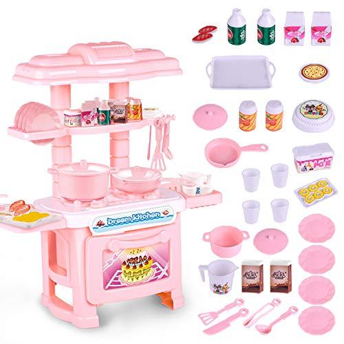 TONGSHAO Kit Utensili Cucina/ 1381/5000 Simulazione Cucina Utensili da Cucina Giocattoli educativi per Bambini. Set Giocattolo da Cucina elettronico per Bambini (FEN)