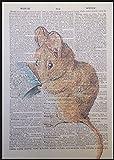 TOM THUMB Maus Beatrix Potter Vintage Wörterbuch Seite Wand Kunstdruck Bild Peter Hase