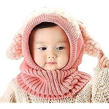 Uworth Carino Cappelli Bambina Invernali Autunno Maglia di Lana Cappelli  Bimba Paraorecchie Sciarpa Cappuccio Natale e3d9ff32f458