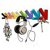 LOFTfan kleiderständer Garderobe Wandaufhänger, Bambus Wand Vitrinen, Küchenschränke Badezimmerwand Kleiderbügel Garderobe hutablage