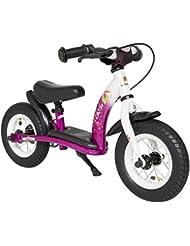 BIKESTAR® Original Premium Sicherheits-Kinderlaufrad für kleine Abenteurer ab 2 Jahren ★ 10er Classic Edition ★ Bezaubernd Berry & Diamant Weiß